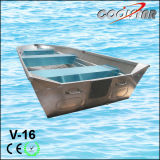16 Feet Length Sharp Bow Aluminium Jon Boat for Fishing