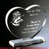 Heart Shape Customize Clear Office Gift Crystal Souvenir