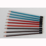 High Quality Triangular Pencils with Black Ferrule and White Eraser