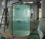 Large-Scale Transparent Acrylic Aquarium for Decoration