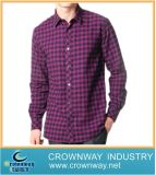 Cotton Long Sleeve Polyester Shirts for Men (CW-LS-27)