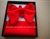 Newest Velvet Oversize Pocket Square Cufflinks Bowties Set with Gift Box Logo Label Acceptable