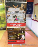 Promotion Standing Hand Scrolling Roll Up Banner For Supermarkets