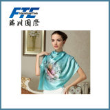 Top Quality Print Fabric Star Women Printed Silk Scarf