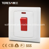 Promotional 3*3 45A Wall Double Pole Function Main Electrical Switch