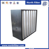 H13 Glass Fiber V-Bank Compact HEPA Filter