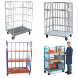 Metal Folding Mesh Roll Cage / Logistics Cart Container