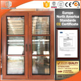 China Made Double Glazed Oak Wood French Casement Window