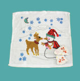 100% Cotton Compressed Terry Towel as Christmas Gifts (YT-676)
