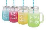 Color Painted 16oz Mason Jar of Glassware Drinkware