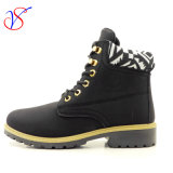 2016 New Style Injection Women Work Boots Shoes for Job with Quick Release (SVWK-1609-030 BLK)