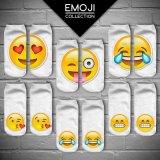 3D Emoji Print Casual Unisex Low Cut Ankle Socks