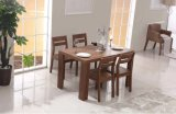 Nice Style Hot Selling Wooden Dining Set Made by One Table with Four Chairs (M-X1115)