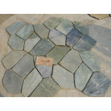 Random Slate Tile, Mesh Flagstone Slate for Paving