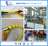 PE PP Spiral Wrapping Bands Making Machine / Plastic Wrapping Hose Protector Machine