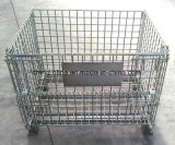 Steel Wire Basket/Stackable Folded Wire Mesh Container