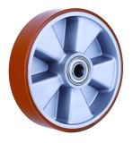 Industrial Caster, Polyurethane Wheel with Aluminum Rim 125X50