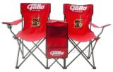 Beer Promotional Outdoor Folding up Two Beach Chairs Table Set