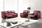 Genuine Leather Chaise Leather Sofa Electric Recliner Sofa (396)