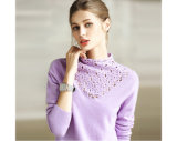 Women′s Cashmere Sweater Round Neck 16brdw011