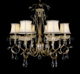 Decorative Lamp Shade Crystal Fabric Chandelier (8856-6)