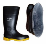 PVC Black Security Mining Work Boots (JMC-254B)