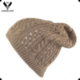 Women′s Acrylic Floppy Cable Knitted Hat