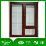 Red Oak Colour Aluminum Wood Compand Window Design with American Design