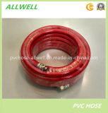 PVC Red Fiber Braided Reinforced High Pressure Air Hose Pipe 8.5mm