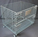 Folded Stackable Wire Mesh Container
