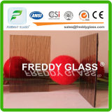 5.6mm Bronze Woven Patterned Glass/ Furniture Glass/ Window Glass
