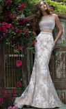 Elegant a Line White One Shoulder Sweetheart Appliqued Handmade Flowers Organza Wedding Gowns for Fat Bride (MN1021)