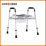 Safety Frame Toilet Commode with Padded Raised Toilet Seat