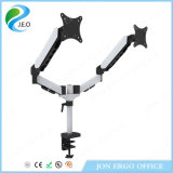 Jn-Ds324c Dual-Screen LCD Monitor Arm 15′′-27′′ Inch Angle Adjustable Monitor Stand