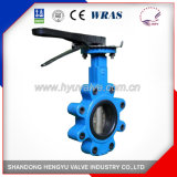 Casting Lug Type Butterfly Valve with Malleable Iron Handlever