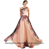 Evening Dresses Long Design Flower Print Summer Chiffon Prom Dress