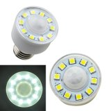 New PIR Auto Infrared Motion Sensor E27 3W 5050 SMD 10LED Lamp Energy Saving White Light 220V