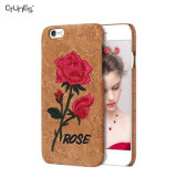 for Embroidery iPhone 7 Case, Creative 3D Rose Embroidery Faux Leather Phone Case Cover for Apple iPhone 7 Plus