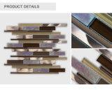 Latest Designed Beautiful Aluminium Glass Mosaic Tile for Backsplash Use