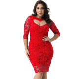 Wholesale Hot Sale Luxury Evening Lace Sexy Dress