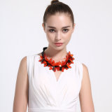 Promotional Gift Lacing Bow Plastic Flower Pendant Necklace
