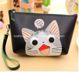 Wholesale Exquisite Portable cosmetic Small PU Leather Zipper Cosmetic Bag Make up Bag