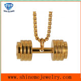 Body Jewelry Fitness Dumbbell Barbell Pendant Stainless Steel Necklace (SPT6276)