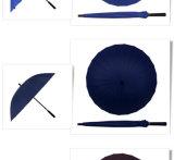 Waterproof Windproof Auto Open Promotional Gift Item Umbrella Aluminium 24K Straight Manual Umbrella Manufacturer