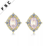 Latest Design Elegant Stud Earrings Silver Plated Noblesse Earrings for Ladies