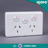 SAA Certificate Australia Double Power Point 10A Double Gpo with Extra Switch