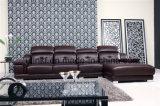 Elegant Sofa Furniture Big U-Shaped Living Room Leather Sofa (HX-FZ025)