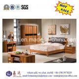 King Size Leather Bed Modern Wood Bedroom Furniture (SH-017#)