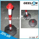 Colored Traffic Flexible EVA Delineator Warning Bollard with Elastic Rubber Base