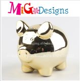 Aureate Elegance of The Pig Ceramic Money Bank
